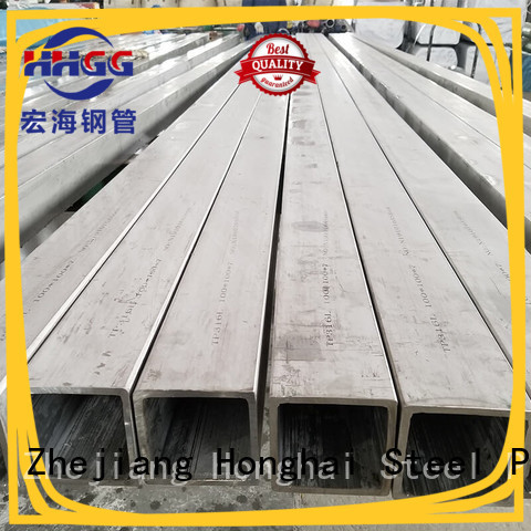 HHGG 304 stainless steel square tube company for promotion