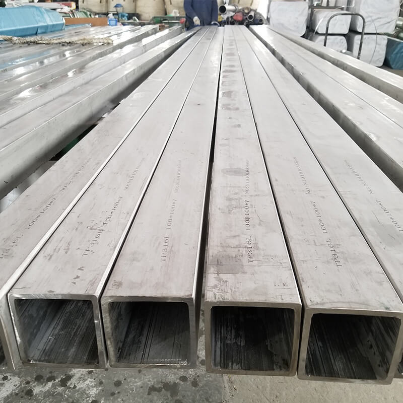 Square Steel Tubing  316ti 309s 904l C-276 Stainless Steel Square Tube Customized Size