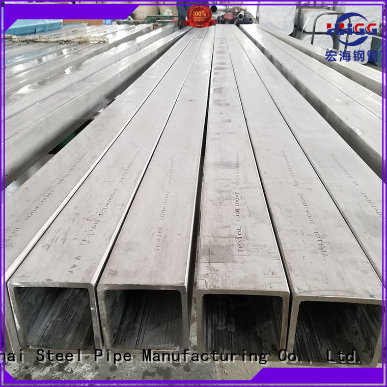 HHGG Wholesale polished stainless steel square tubing Supply for sale