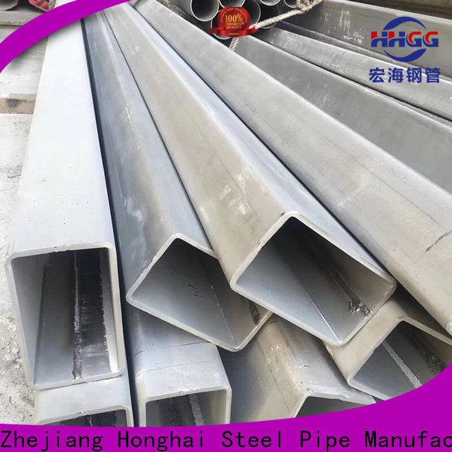 HHGG Latest stainless steel rectangular pipe manufacturers for promotion