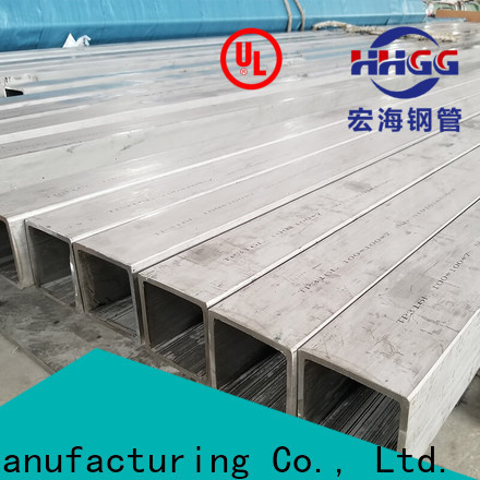 HHGG Top polished stainless steel square tubing manufacturers on sale